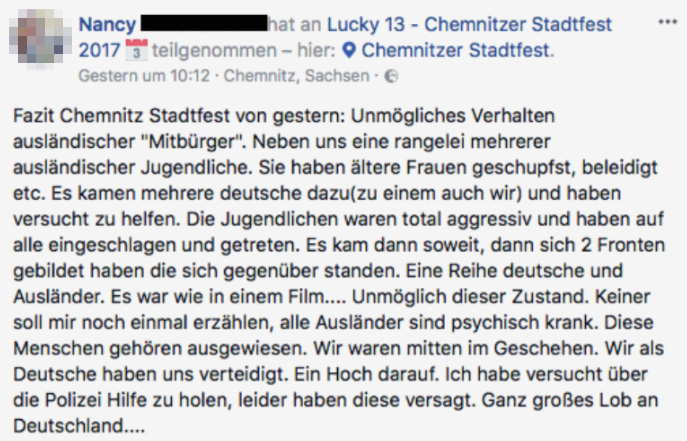 sex attacken migranten asylwerber stadtfest chemnitz 2