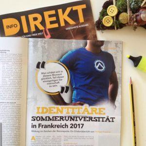 Info-DIREKT Ausgabe 17, Philipp Huemer über die Identitäre Sommeruniversität in Frankreich