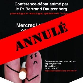 Evènement annulé ! Conférence : Le tabac t'abat