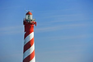 Leuchtturm mit viel Himmel Burgh-Haamstede