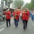Jazz-Kapelle auf Hauptstraße von Domburg