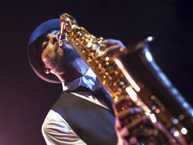 Saxofonist Großaufnahme Nazomerfestival