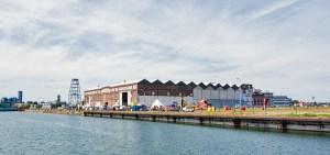 Werkshalle in Vlissingen, die jetzt als Veranstaltungsort für Cuisine Machine genutzt wird