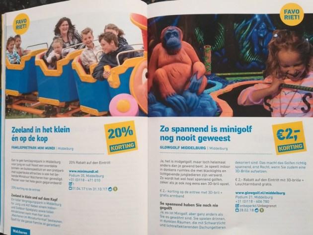Prospekt ZeelandPass mit zwei Angeboten