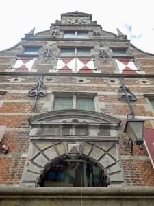 Gebäude Teilansicht Kloveniersdoelen in Middelburg