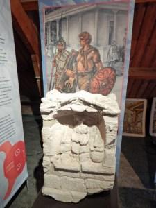 Stein aus der Römerzeit im Museum Polderhuis in Westkapelle