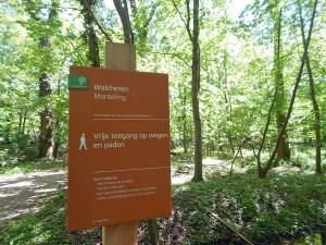 Hinweisschild im Naturpark de Manteling Oostkapelle