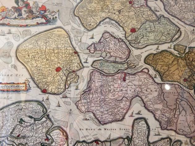 Alte Karte von Zeeland