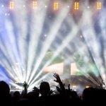 Bühne mit Gegenlicht