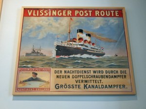 Historisches Plakat Vlissinger Post Route
