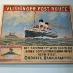 Historisches Plakat Vlissinger Post Route