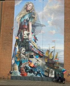 Die Geschichte von Vlissingen in einem Fassadenbild