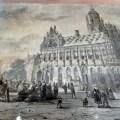 Historisches Bild Rathaus Middelburg mit Markt