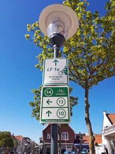 Fahrradwege Hinweisschild Knotenpunkt