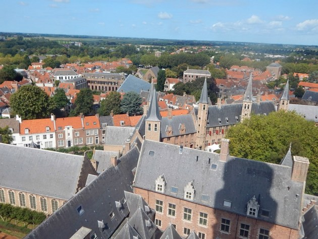 Abtei Middelburg von Aussicht Langer Jan - Totale