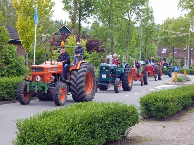 Traktorparade in Gapinge