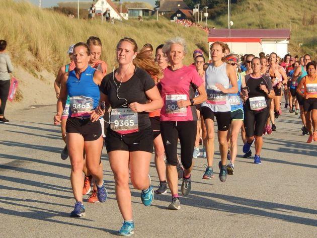 Frauen beim Ladiesrun vom Kustmarathon 2018