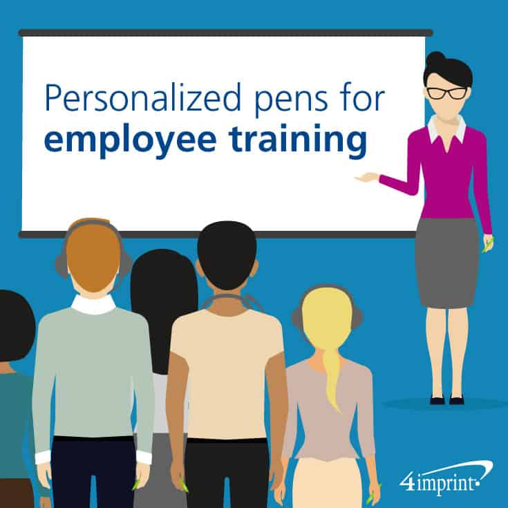 Personalized pens make employee training a breeze.