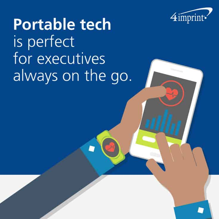 Portable tech is perfect for executives always on the go.