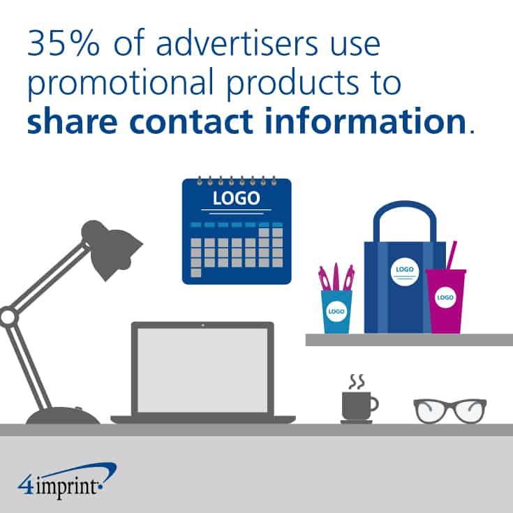 Promotional products help you stay in touch.