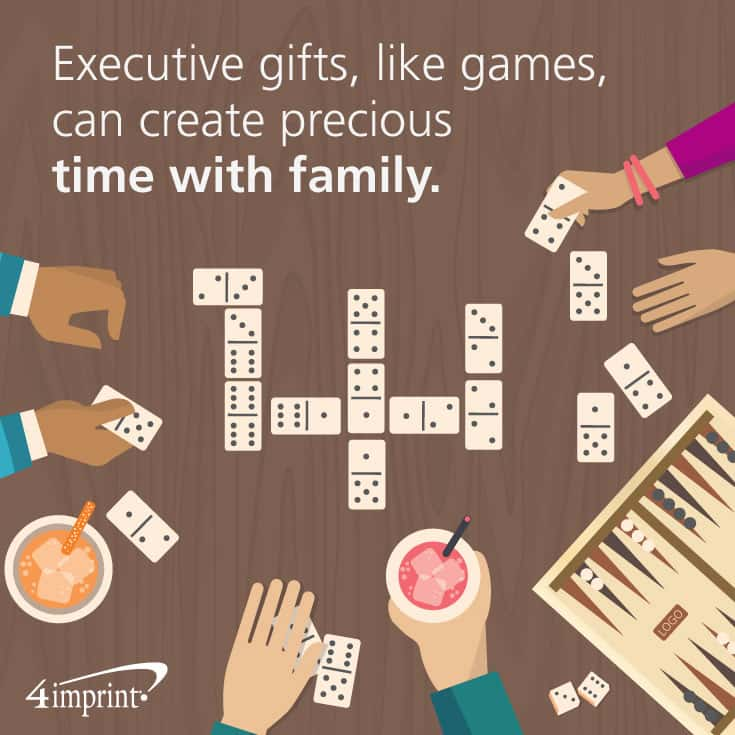 Executive gifts like games can create precious time with family.