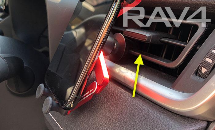 50系RAV4にクリップ装着位置