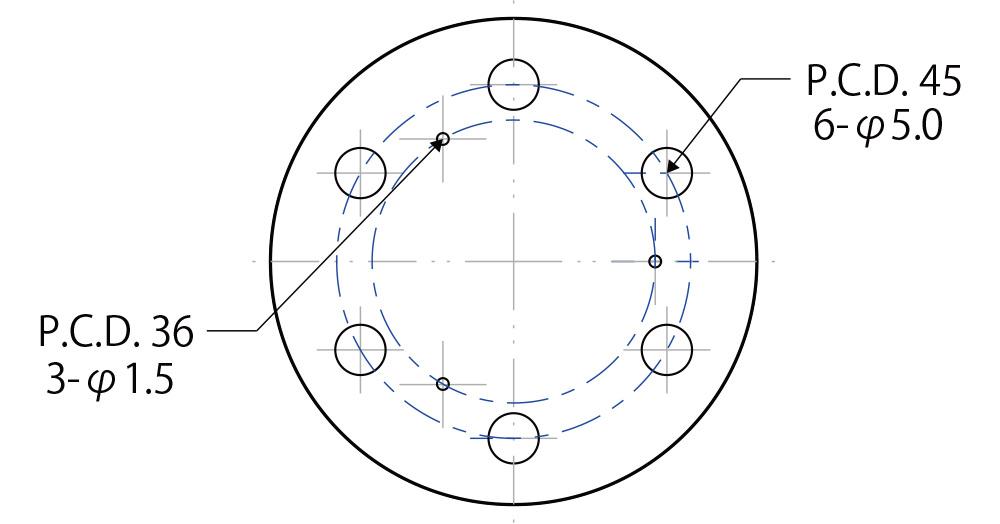 PCDの図面指示