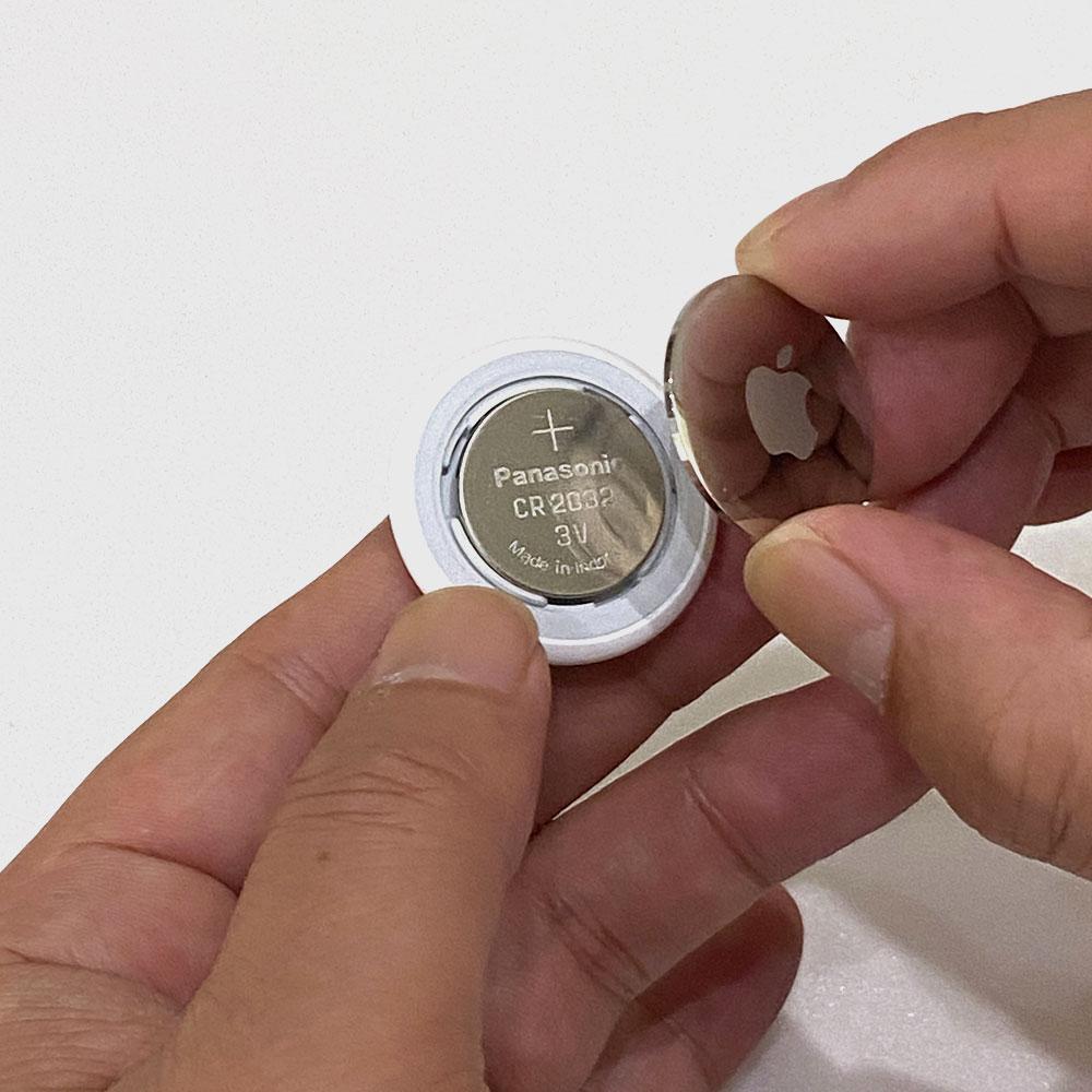 エアタグのボタン電池(バッテリー)交換手順