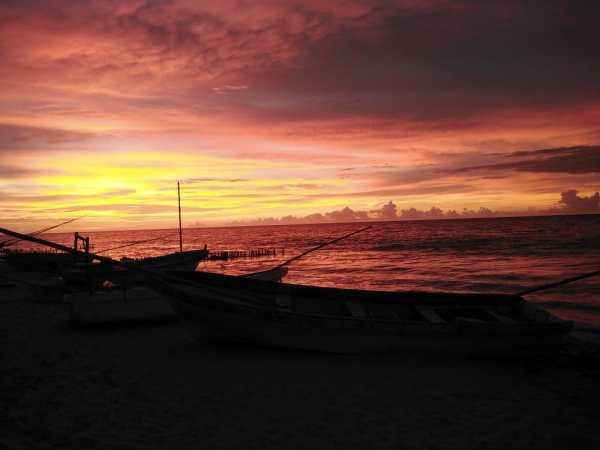 Sunset in Chelem
