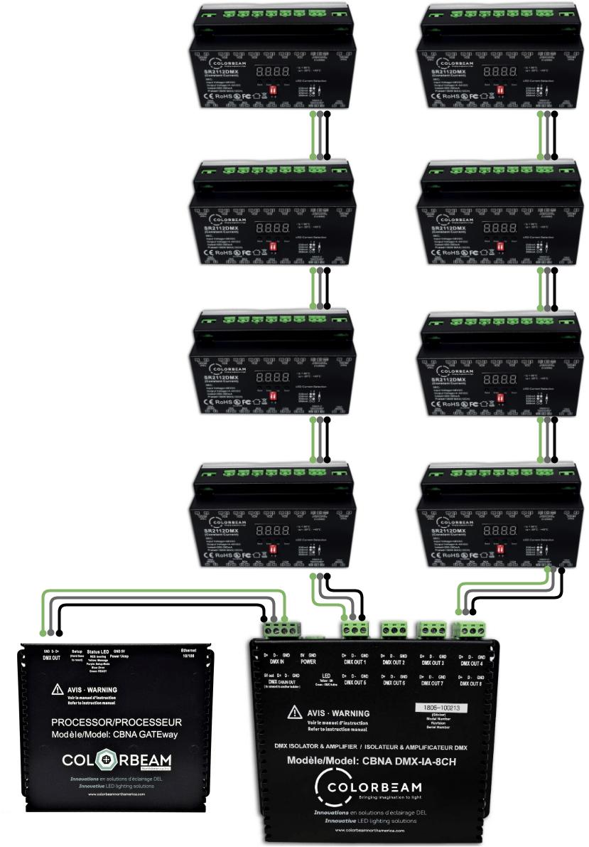 medium resolution of dmx amplifier wiring example