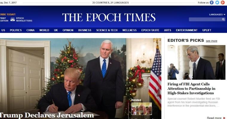 """Noviny """"Epoch Times"""" se starají iočínské křesťany"""