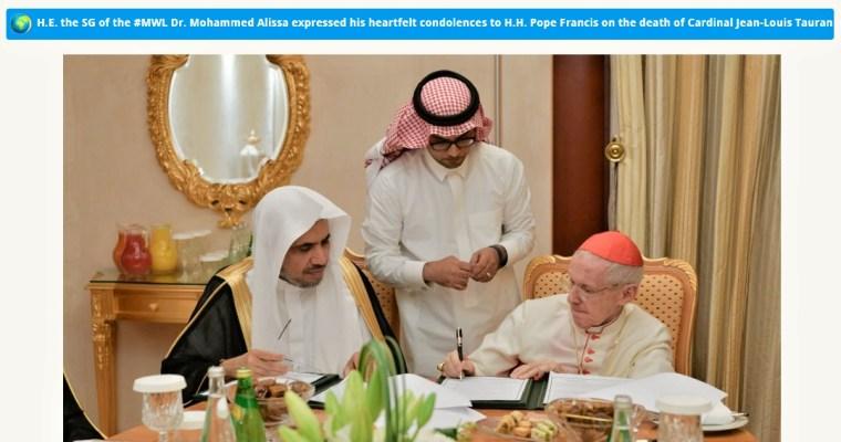 Muslimové litují smrti kardinála Taurana