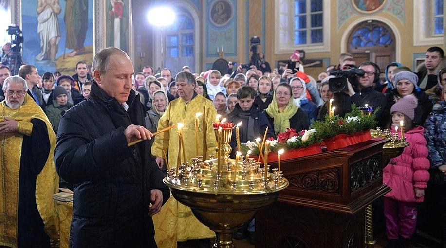 Vladimír Putin onové ukrajinské církvi