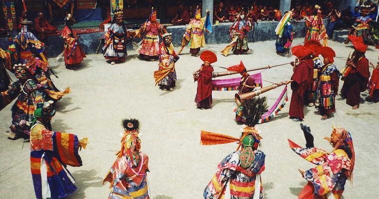 Buddhistický festival vhimálajském klášteře Lamayuru