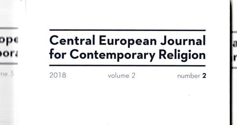 Časopis CEJCR: Osoučasném náboženství ve středoevropském regionu