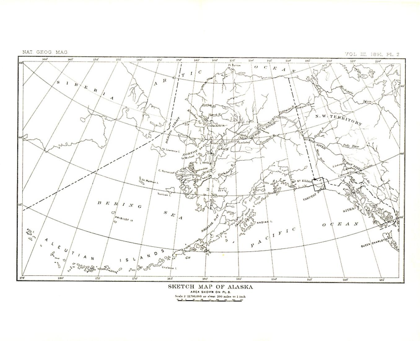 1891 Alaska Map by National Geographic Maps