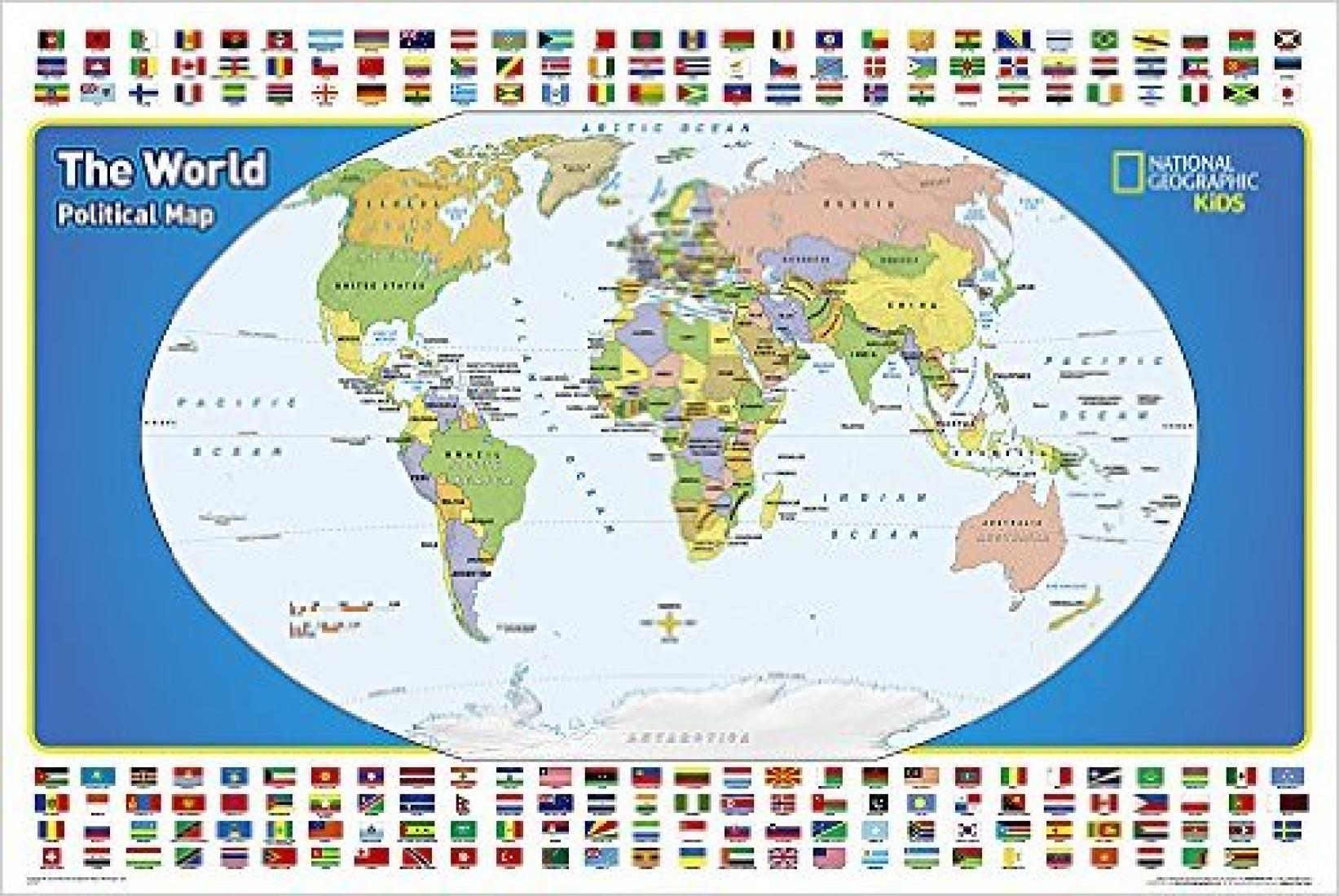 The World For Kids Laminated Wall Map By National