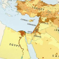 L'Etat d'Israël rayé d'un atlas sur le Moyen-Orient