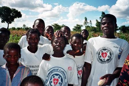 Jugendliche des Anti-Aids-Clubs
