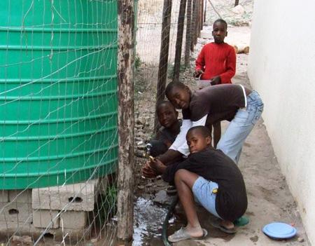 Der Wassertank ist lebenswichtig