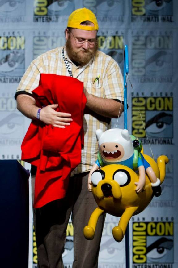 Show creator Pendleton Ward during Friday's Adventure Time panel, unveiling the model of the Adventure Time balloon to make its debut in the 87th Annual Macy's Thanksgiving Day Parade® this year.