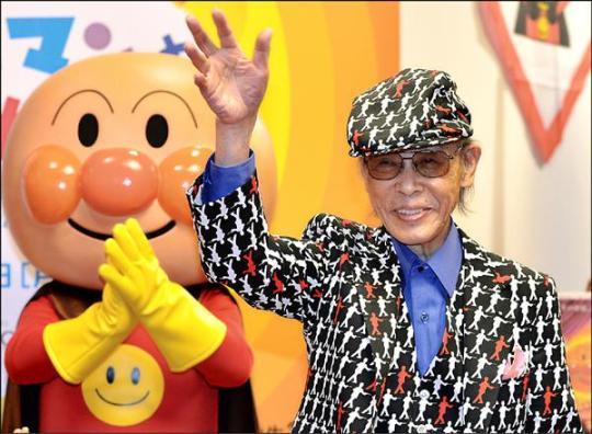 日本人氣動漫「麵包超人」作者柳瀨嵩,13日以94歲高齡病逝。(法新社)