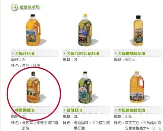 ▲大統特級橄欖油遭民眾檢舉成分不純,檢調16日發動搜索。(圖/取自大統長基官網)