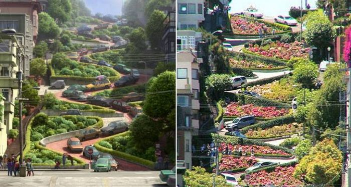 Inside Out scenes that you can visit in real life San Francisco