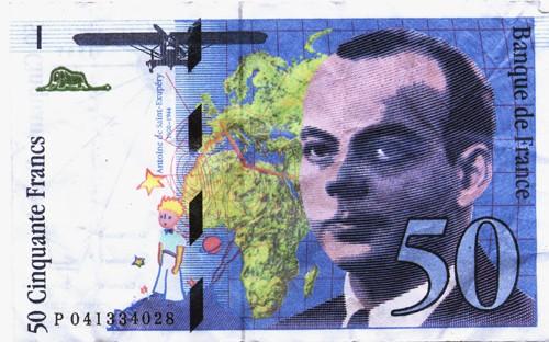 money-antoine-de-saint-exupery-50-francs-note-the-little-prince-author-fighter-pilot-national-hero