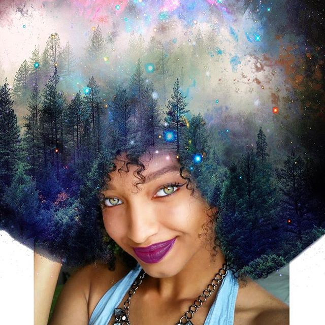 pierre-jean-louis-flowers-galaxy-afro-hairstyle-black-girl sexy