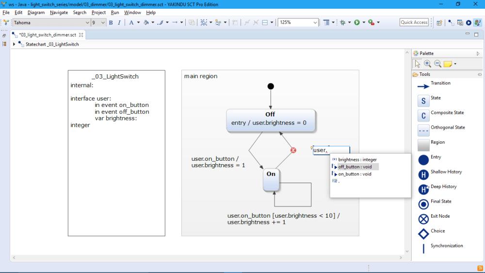 medium resolution of  itemis yakindu statechart tools editing