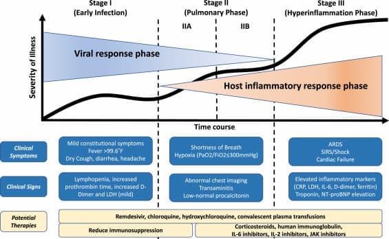 fases-de-la-infección-del-COVID-19