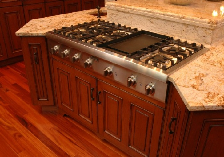 Kitchen Island Gas Range