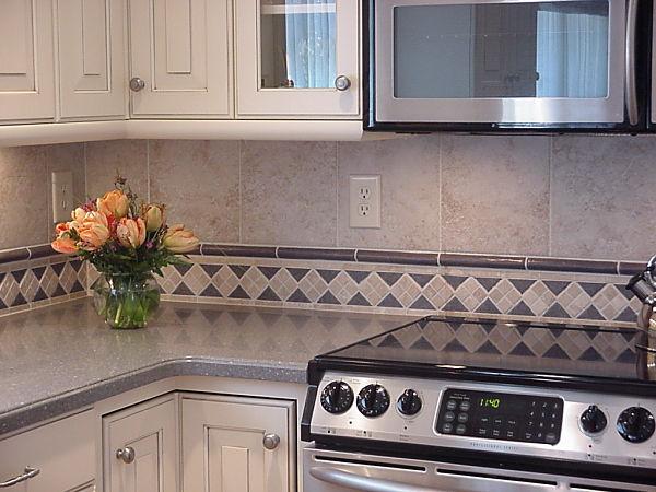 Kitchen Backsplash Border delighful kitchen backsplash border tiles in ceramic tile glass